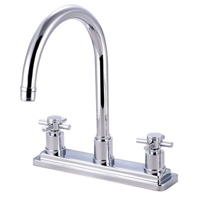 Elements of Design Concord Double Handle Deck Mount Kitchen Faucet without Sprayer