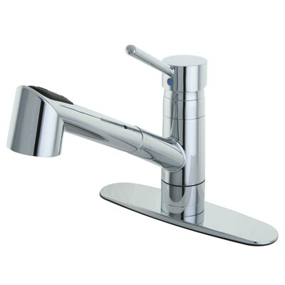 Wilshire Single Handle Pull Out Lead Free Kitchen Faucet with Deck Plate