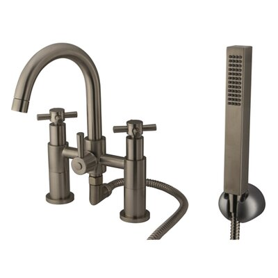 Elements of Design South Beach Deck Mount Tub and Shower Faucet Trim with Hand Shower