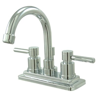 Elements of Design South Beach Double Handle Centerset Bathroom Faucet with Brass Pop-Up
