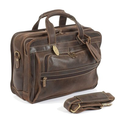 Claire Chase Guardian Leather Laptop Briefcase