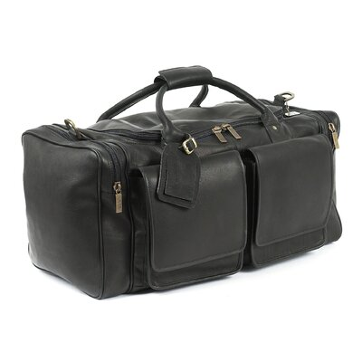 "Claire Chase Hampton's 23"" Leather Carry-On Duffel"