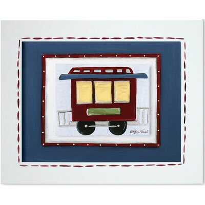 Doodlefish Transportation Caboose Framed Giclee Wall Art