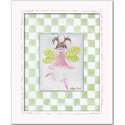 Doodlefish Fairies Fairy Framed Giclee - Light Brown Wall Art
