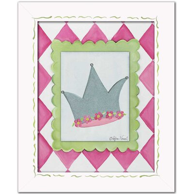 Ballerina Crown Framed Giclee Wall Art