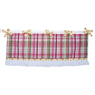 Doodlefish Little Lady Tab Top Ruffled Curtain Valance
