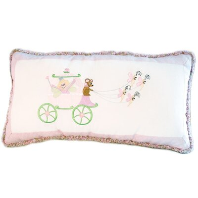 Doodlefish Princess Embroidered Lumbar Pillow