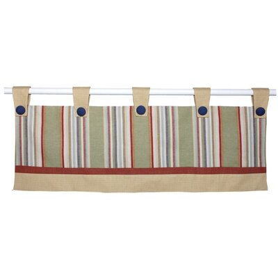Doodlefish Safari Double Tab Top Tailored Curtain Valance