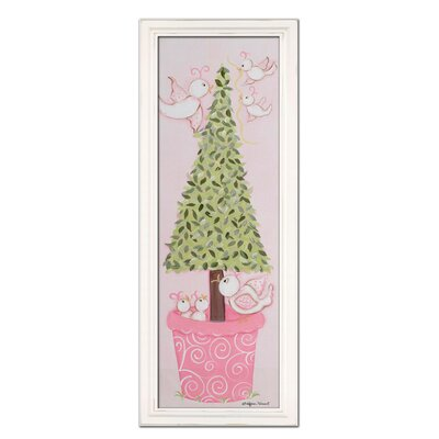 Bird Topiary Giclee in Pink