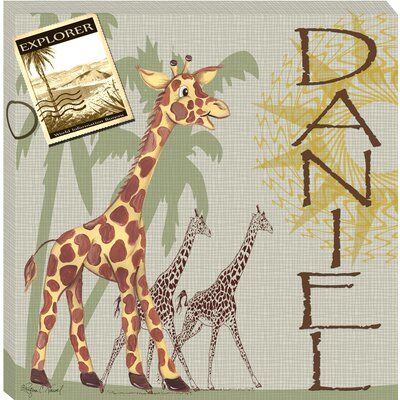 Giraffe Safari Giclee - Personalized