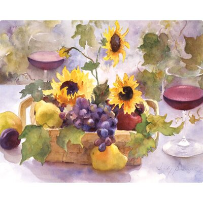 "Magic Slice 12"" x 15"" Summer Wine Design Cutting Board"