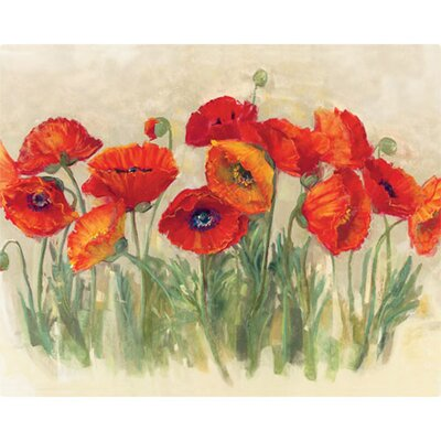 "Magic Slice 12"" x 15"" Vibrant Poppies Design Cutting Board"