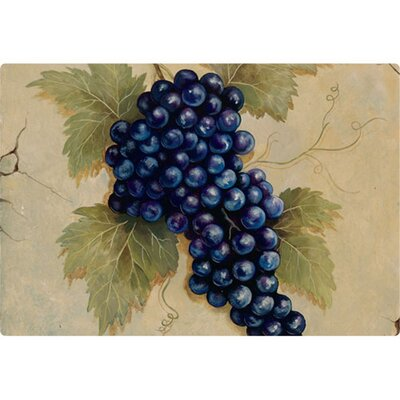 "Magic Slice 9.5"" x 12.5"" Grapes Design Cutting Board"