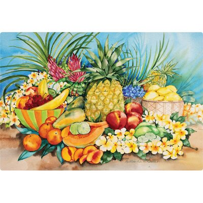 "Magic Slice 7.5"" x 11"" Tropical Fruit Design Cutting Board"