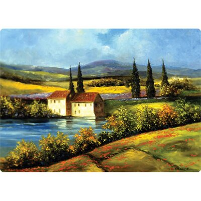"Magic Slice 5"" x 7"" Tuscan Scene Design Cutting Board"
