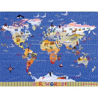 Magic Slice World Map Play Placemat