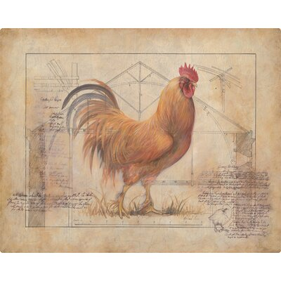 Rustic Fowl 1 Cutting Board