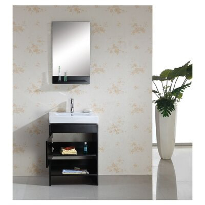 "Virtu Gloria 23.6"" Single Bathroom Vanity Set"