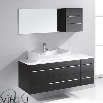 Virtu Ultra Modern 53 Single Bathroom Vanity Set With