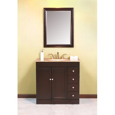 "Virtu Modena Single 36"" Bathroom Vanity Set in Espresso"