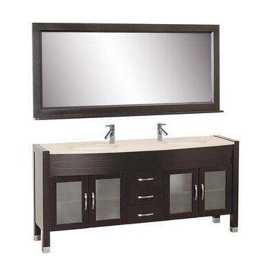 "Virtu Ava 71"" Double Bathroom Vanity Set"