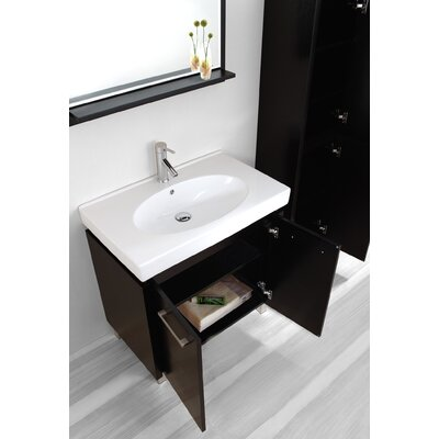 "Virtu Harmen Single 32"" Bathroom Vanity Set in Espresso"