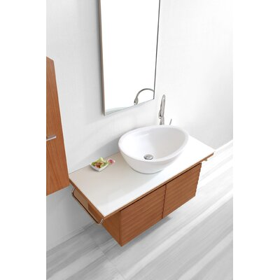 "Virtu Porter Single 48"" Bathroom Vanity Set in Chestnut"