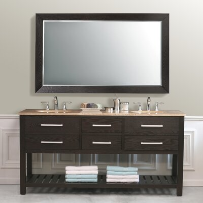 "Virtu Clamentina 72"" Double Bathroom Vanity in Dark Espresso"