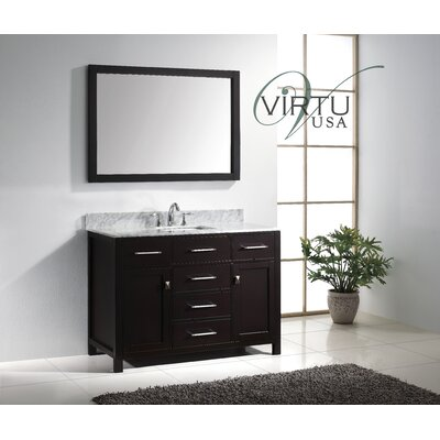 "Virtu Caroline 48"" Single Sink Bathroom Vanity Set"