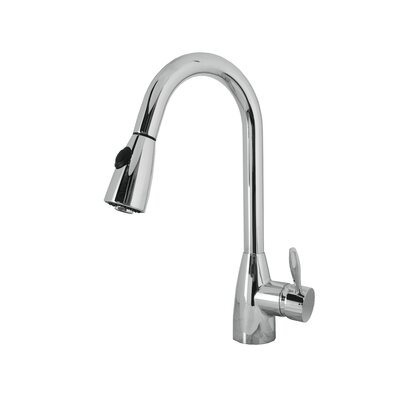 Neptune Single Handle Single Hole Kitchen Faucet with Pull-Down Spray