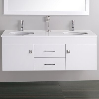 "Virtu Alyssa 56.3"" Wall Mounted Bathroom Vanity Set"