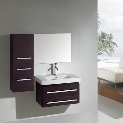 "Virtu Antonio Contemporary 27.6"" Bathroom Vanity Set"