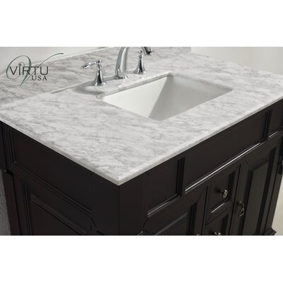 "Virtu Huntshire 39.5"" Single Sink Bathroom Vanity Set"