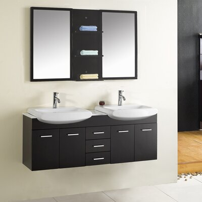 "Virtu Ophelia 59.1"" Double Bathroom Vanity Set"