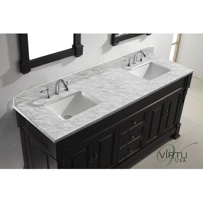"Virtu Huntshire 71.25"" Double Sink Bathroom Vanity Set"