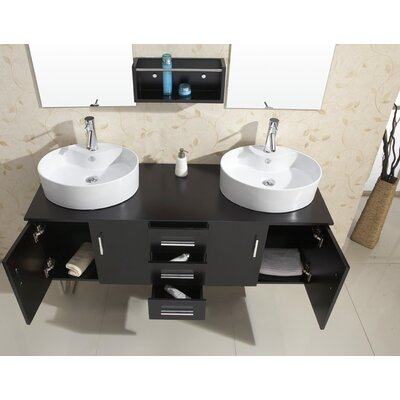 "Virtu Enya 59.1"" Double Bathroom Vanity Set"