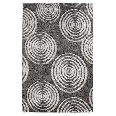 Linon Rugs Milan Gray Circle Rug