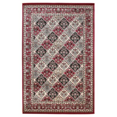 Linon Rugs Milan Red Rug