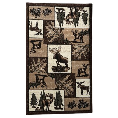 Lodge 06 Wildlife Novelty Rug