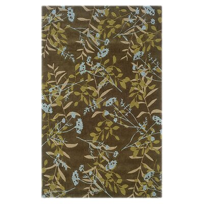 <strong>Linon Rugs</strong> Trio Chocolate/Spa Blue Rug