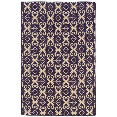 Linon Rugs Salonika Purple Ikat Rug