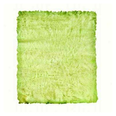 Linon Rugs Faux Sheepskin Green Rug