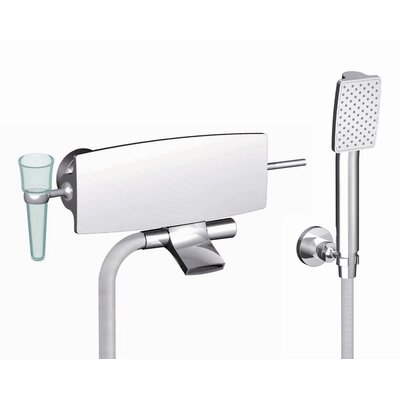 Fima by Nameeks De Soto Wall Mount Tub Only Faucet with Hand Shower