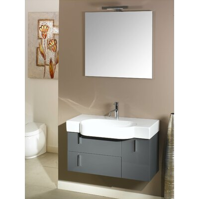 "Iotti by Nameeks Enjoy 35.4"" Wall Mounted Bathroom Vanity Set"