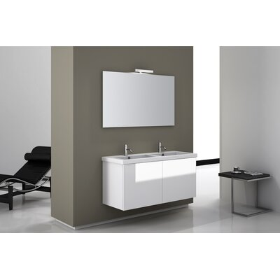 "Iotti by Nameeks Space 47"" Wall Mount Double Bathroom Vanity Set"