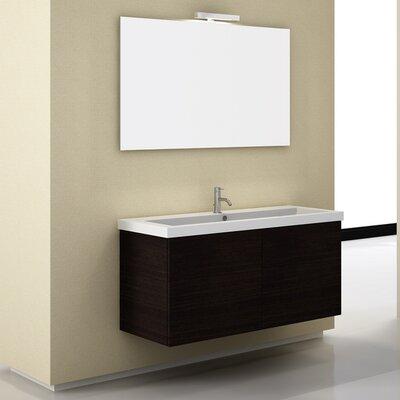 space 47 single wall mount bathroom vanity set with mirror wayfair