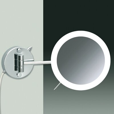 Wall Mount 3X Magnifying LED Mirror with One Arm and Sensor