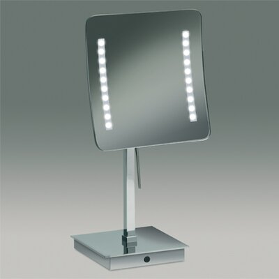 Free Standing 3x Magnifying LED Mirror with Sensor