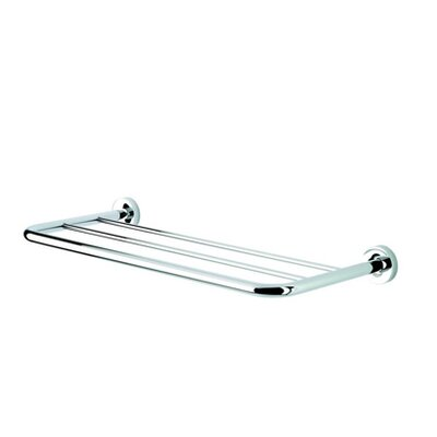 "Geesa by Nameeks Luna 25.2"" Bath Towel Shelf in Chrome"