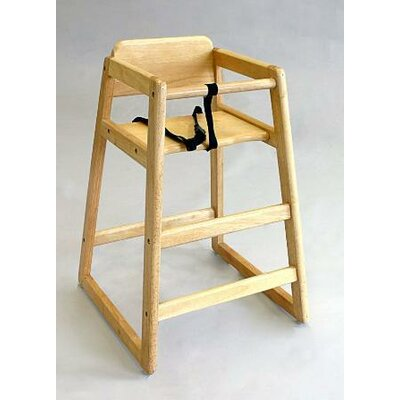 L.A. Baby Wood High Chair